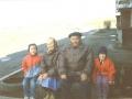 Бочкина Антонина Александровна (20.05.1925) и Бочкин Сергей Александрович (25.05.1931 – 5.02.06) со своими внуками. Автор: Березкина Ирина (Вологда).