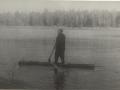 Валдай. Владимир Федорович в лодке-долбленке.